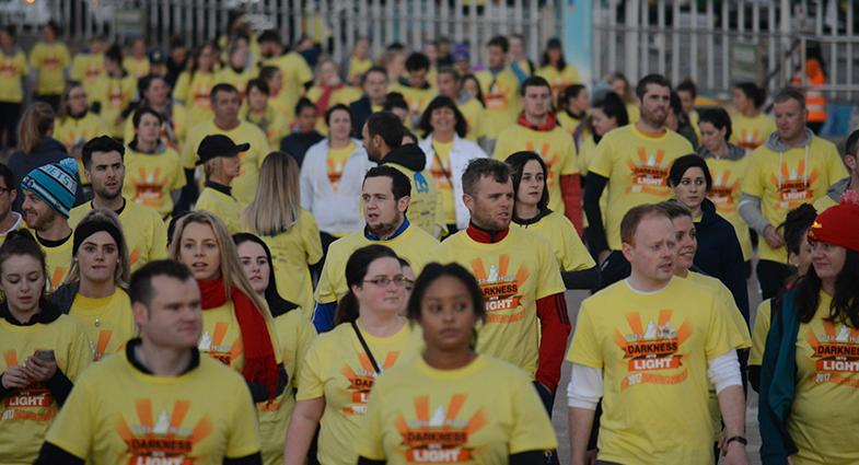 APP supporting batyr through Darkness into Light event